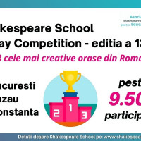 Shakespeare School Essay Competition, editia #13 Top 3 cele mai creative orase din Romania