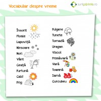 Vocabular despre vreme