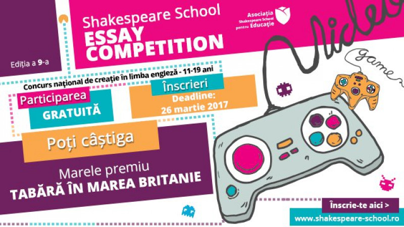concurs shakespeare school essay competition Concursul de eseuri in limba engleza la cea de-a vi-a editie a concursului national de eseuri in limba engleza shakespeare school essay competition au.
