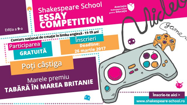 shakespeare school essay competition Shakespeare school, bucharest, romania 32k likes welcome to the english language centre that brings the fun in the classroom we offer english and exam.