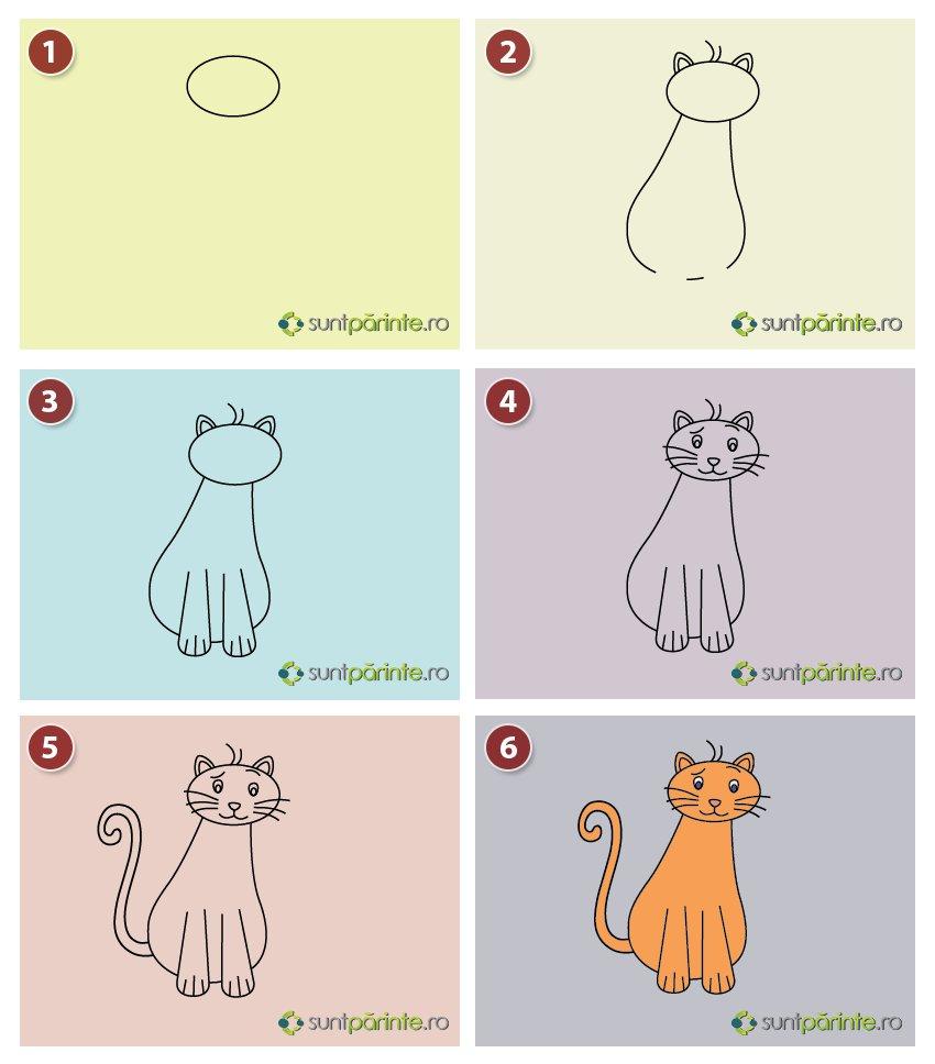 Cum Se Deseneaza O Pisica Suntparintero