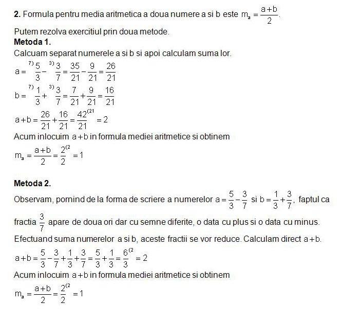 Rezolvarea Modelului De Test La Matematica Pentru Clasa A