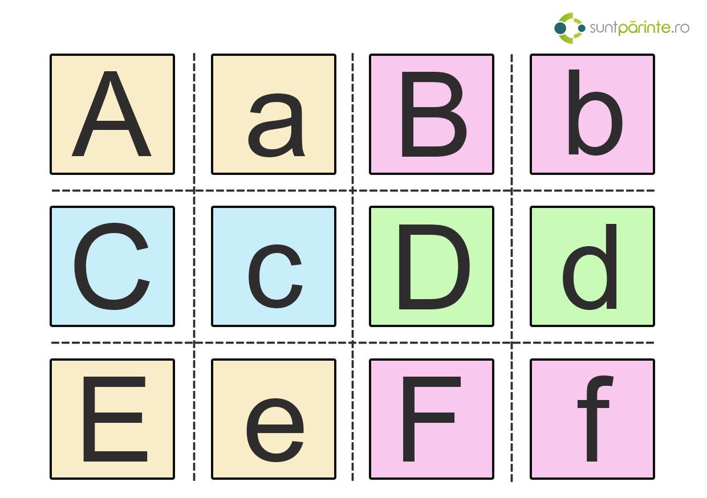 Alfabet Romanesc Fise Cu Litere Suntparintero